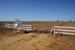Estación del ganado - australiano interior Foto de archivo libre de regalías