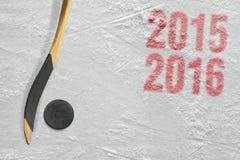 Estación del hockey 2015-2016 del año Foto de archivo libre de regalías