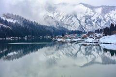 Estación del invierno de la nieve en Mishima Foto de archivo libre de regalías