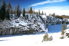 Estación del invierno en la montaña de mármol Nevado Fotos de archivo