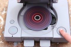 Estación del juego con la rueda del juego cd colorido Imagen de archivo libre de regalías