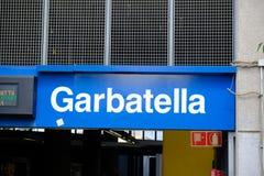 Estación del metro de Garbatella Foto de archivo libre de regalías