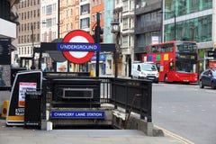 Estación del metro de Londres Imagenes de archivo