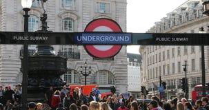 Estación del metro de Piccadilly Circus metrajes