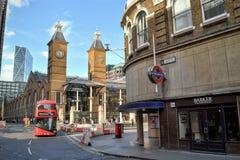 Estación del metro Londres del ferrocarril de calle de Liverpool Imagen de archivo