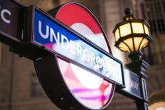 Estación del metro Londres Reino Unido de Londres Imagen de archivo libre de regalías