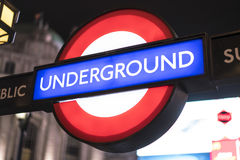 Estación del metro Londres Reino Unido de Londres Imágenes de archivo libres de regalías