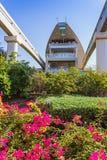 Estación del monorrail en una palma artificial Jumeirah de la isla Imágenes de archivo libres de regalías