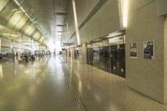 Estación del MRT del aeropuerto internacional de Singapur Changi Imagen de archivo libre de regalías