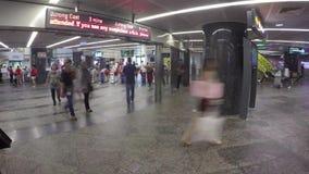 Estación del MRT de la huerta de Timelapse almacen de video