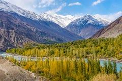 Estación del otoño en Paquistán fotografía de archivo