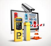 Estación del pago del estacionamiento - control de acceso ilustración del vector