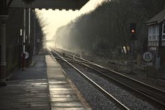 Estación del puente de Hebden Imágenes de archivo libres de regalías
