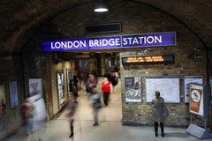 Estación del puente de Londres Foto de archivo libre de regalías