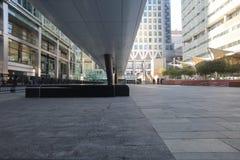 Estación del riel transversal en Canary Wharf Fotografía de archivo libre de regalías