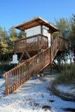 Estación del salvavidas en la playa Imágenes de archivo libres de regalías