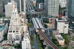 Estación del skytrain de Bangkok Imagen de archivo libre de regalías