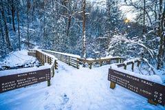 Estación del sur del invierno del parque de estado de la montaña Imágenes de archivo libres de regalías