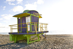Estación del sur del salvavidas de Miami de la playa Fotos de archivo