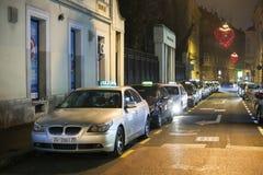 Estación del taxi en la calle de Gajeva Fotos de archivo