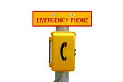 Estación del teléfono de emergencia Imagen de archivo