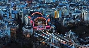 Estación del terraplén de Londres Fotos de archivo libres de regalías