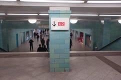 Estación del u-bahn de Berlín Fotografía de archivo