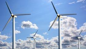 Estación del viento de la potencia Foto de archivo libre de regalías