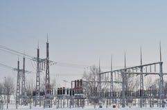 Estación eléctrica Imagenes de archivo