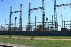 Estación eléctrica Imagen de archivo libre de regalías
