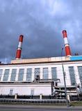 Estación eléctrica del calor industrial de los tubos Fotografía de archivo libre de regalías
