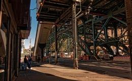 Estación en Harlem, NYC Imágenes de archivo libres de regalías