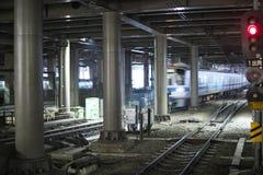 Estación en Shinjuku, Tokio Foto de archivo libre de regalías
