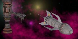 Estación espacial Fotos de archivo libres de regalías