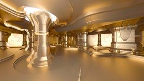 Estación espacial de oro Imagen de archivo libre de regalías