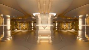 Estación espacial de oro Imágenes de archivo libres de regalías