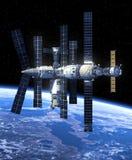 Estación espacial en espacio stock de ilustración