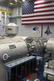 Estación espacial internacional DESTINY Mockup Sits Under una América Imagen de archivo