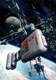 Estación espacial planetaria Fotos de archivo libres de regalías