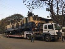 Estación ferroviaria kalyan de mudanza de las mercancías del motor de WCAM 3 imágenes de archivo libres de regalías