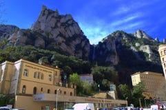 Estación funicular de la montaña de Montserrat, España Fotos de archivo libres de regalías