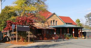 Estación histórica de la unión en Northampton en Massachusetts foto de archivo