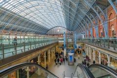 Estación internacional del St Pancras, Londres, Reino Unido Foto de archivo