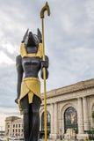 Estación Kansas City Missouri de rey Tut Exhibit Union imagenes de archivo