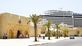 Estación marítima con el puerto transatlántico de La Goulette, Túnez Fotos de archivo