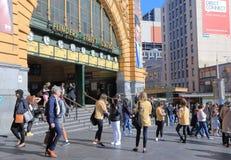 Estación Melbourne de la calle del Flinders Foto de archivo