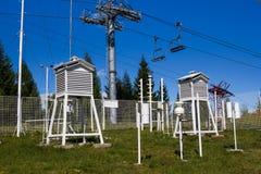 Estación meteorológica fotos de archivo libres de regalías