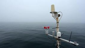 Estación meteorológica de la nave almacen de metraje de vídeo