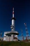 Estación meteorológica en el transalpina de Ranca Imagenes de archivo