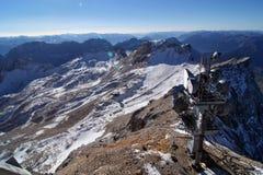 Estación meteorológica, montaña Zugspitze, Alemania. Imagen de archivo libre de regalías
